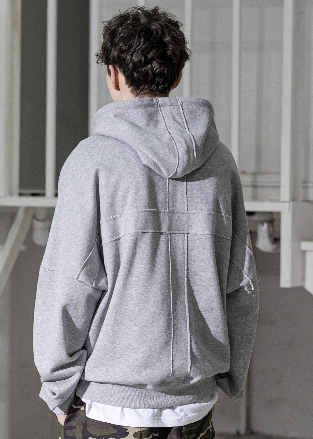 CROSS ADD OVERSIZED HOODY MSZHD002-GY