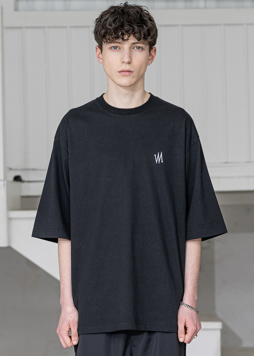 SIGNATURE OVERSIZED T-SHIRTS MSZTS004-BK