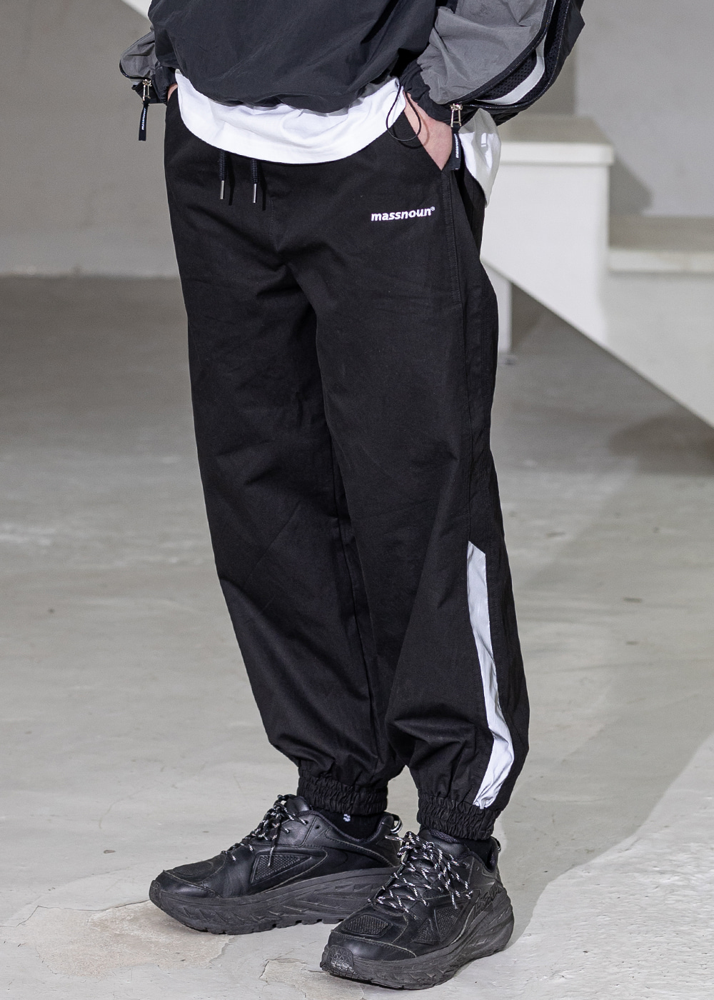 SL LOGO SECTION 3M LINE JOGGER PANTS MSZCP001-BK