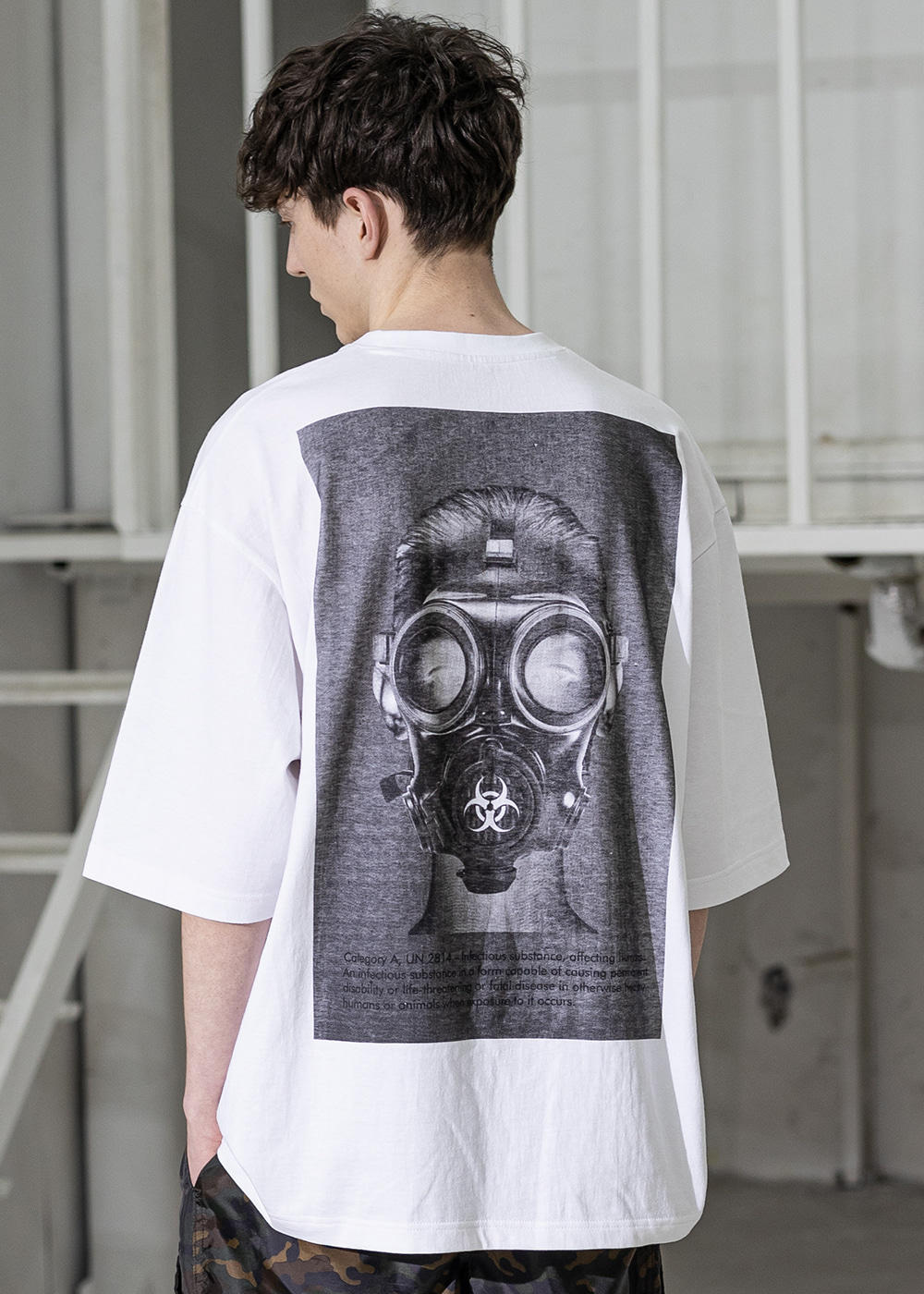 BIOLOGICAL GASMASK OVERSIZED T-SHIRTS MSZTS002-WT