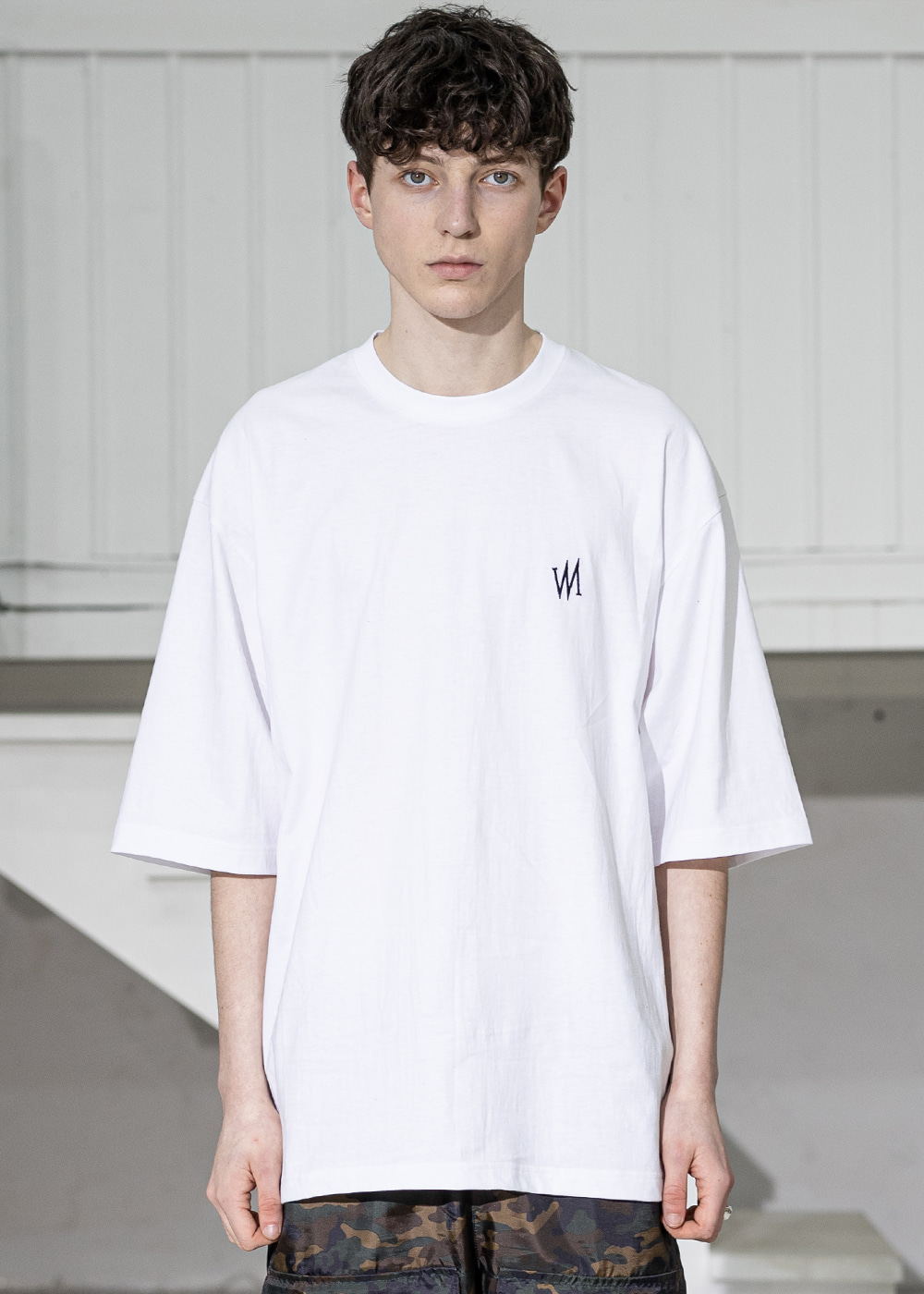 SIGNATURE OVERSIZED T-SHIRTS MSZTS004-WT