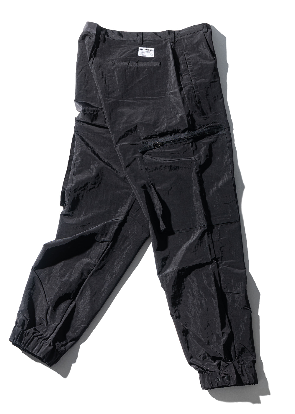 NYLON METAL SIGNATURE CARGO PANTS MUZTP001-BK