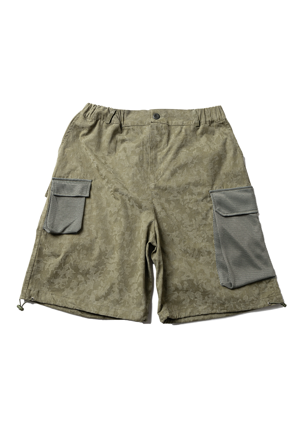 MESH CARGO POCKET SHORT PANTS MUZSP003-CM