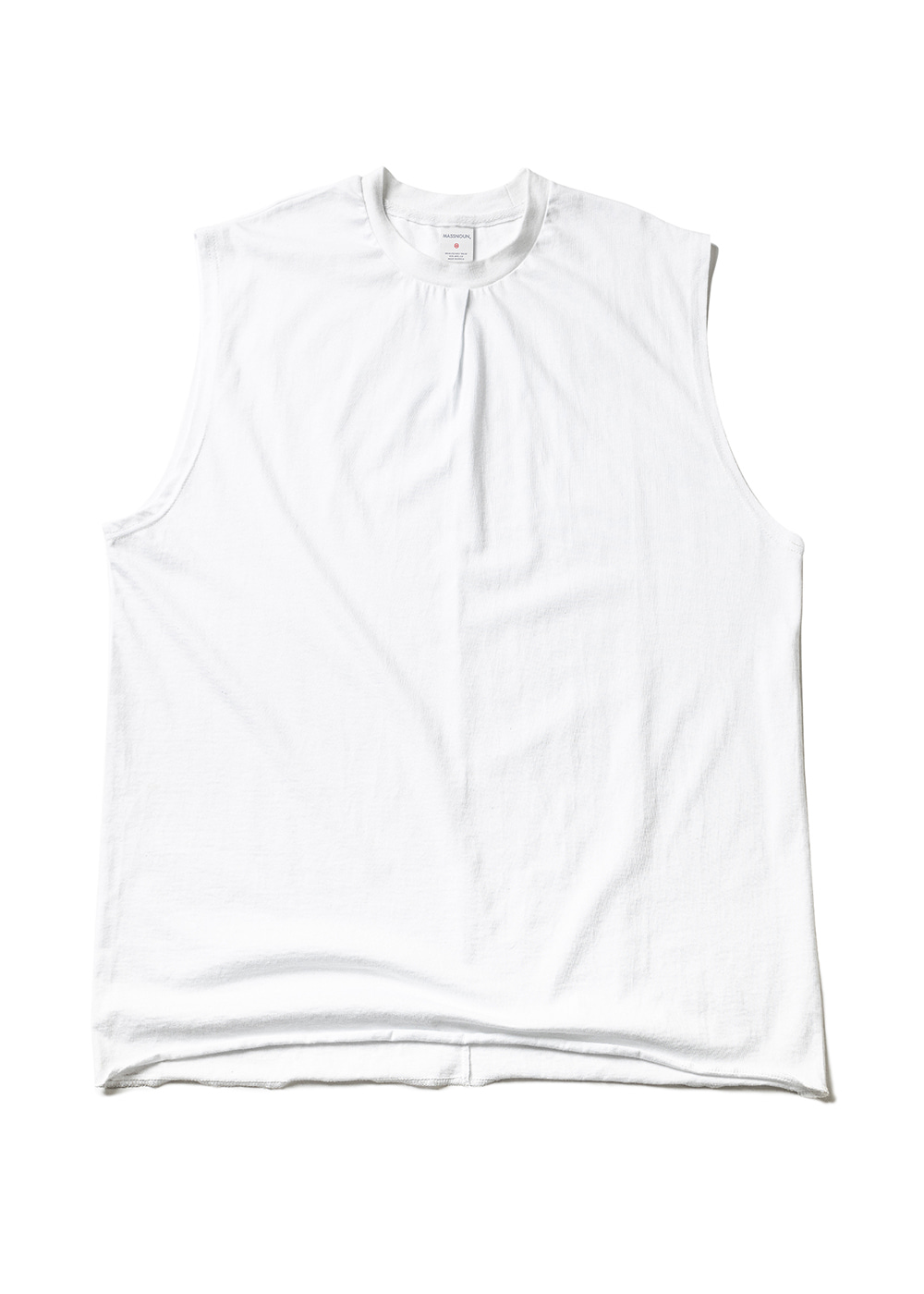 RESTRUCTURE OVERSIZED SLEEVELESS MUZSV002-WT